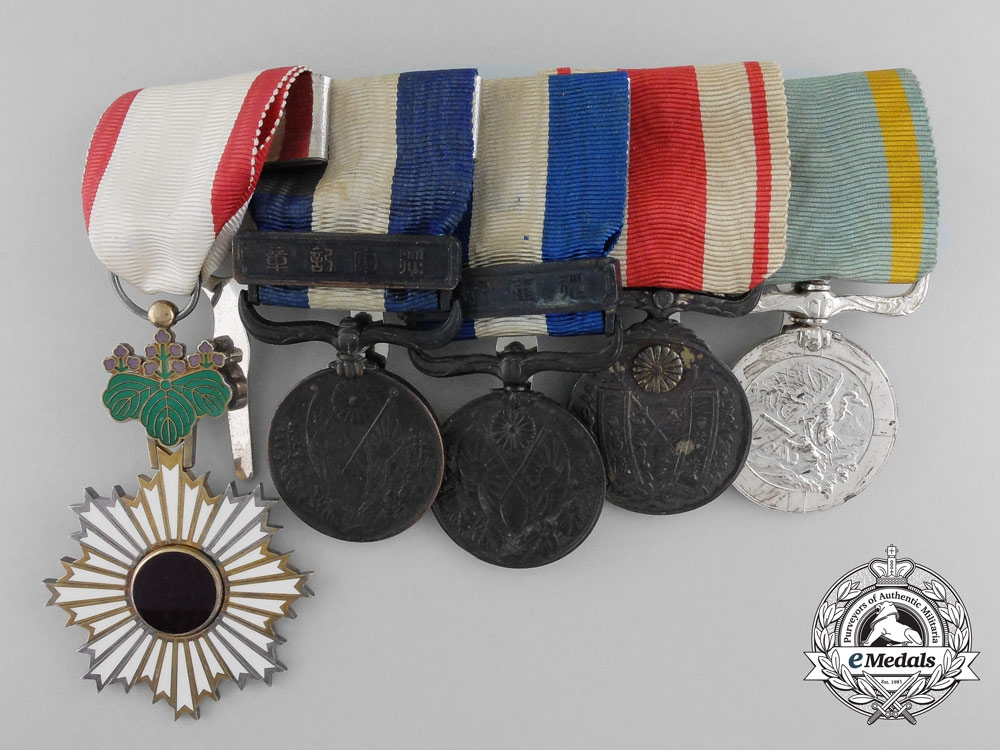 eMedals-A Second War Japanese Sea Disaster Rescue Medal Bar