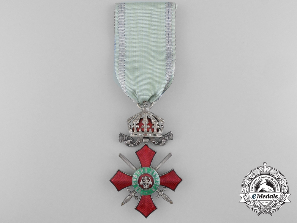 eMedals-A Bulgarian Military Merit Order; 5th Class Knight