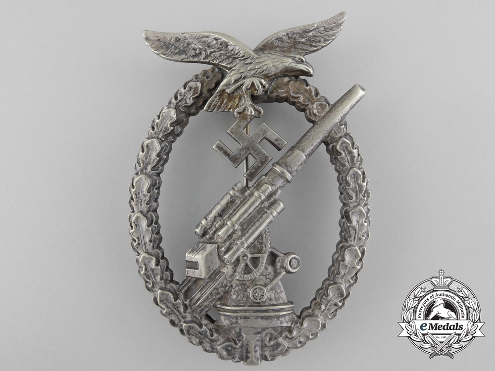 eMedals-An Early Luftwaffe Flak Badge by Adolf Scholze