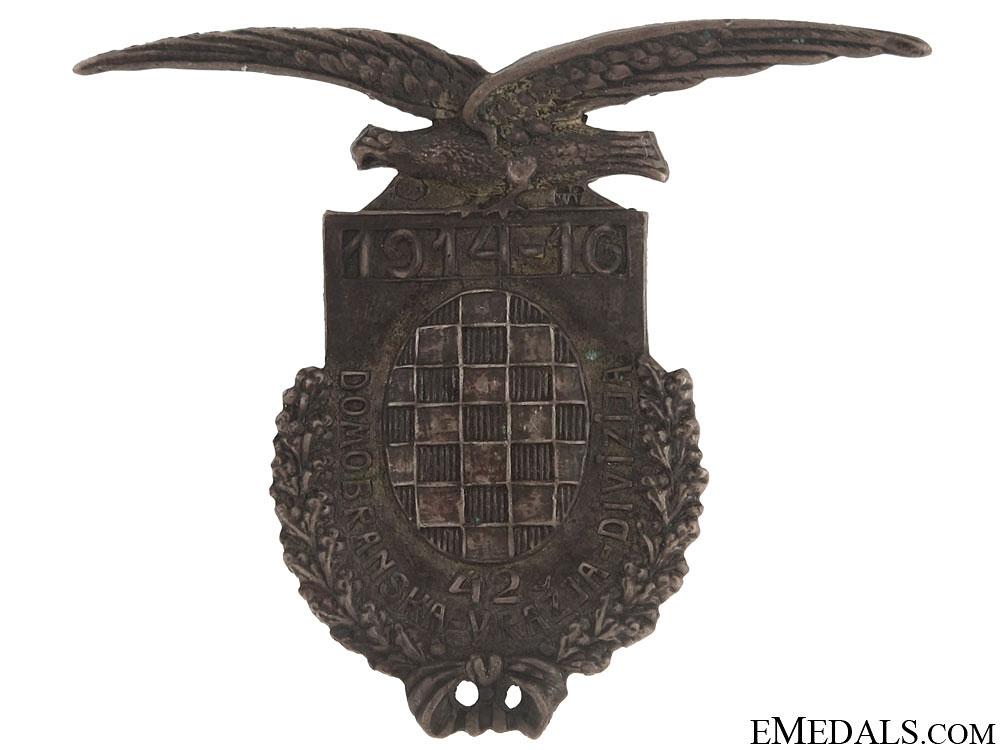 """eMedals-Badge of the Croatian """"Devil's Division"""" WWI"""