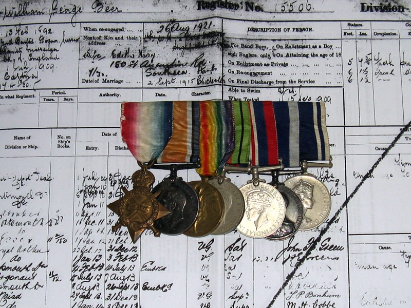 eMedals-Great War and WWII Group of Seven