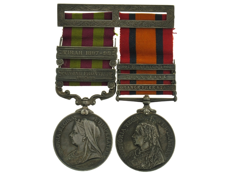 """eMedals-India Medal & Queen""""¢¯s South Africa Medal Pair"""