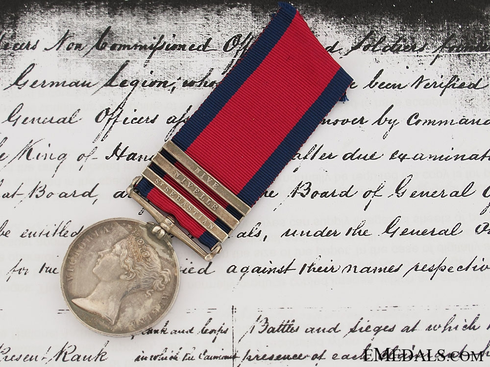 eMedals-An M.G.S. to the King's German Legion and a Defender of La Haye Sainte