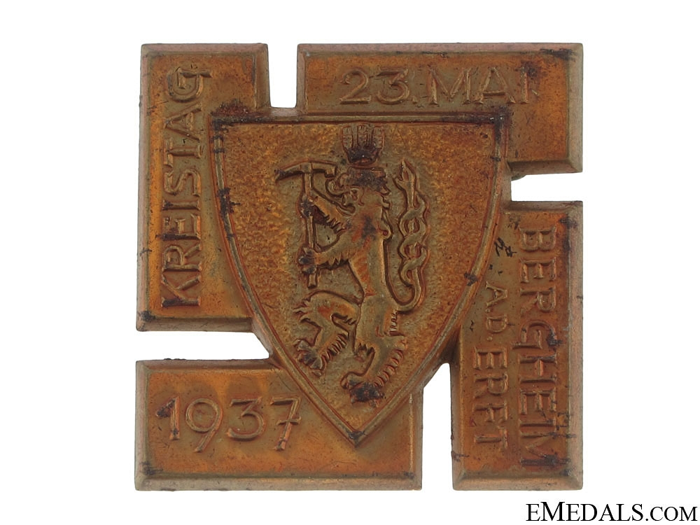 eMedals-Bergheim City Council Rally Badge - May 23, 1937