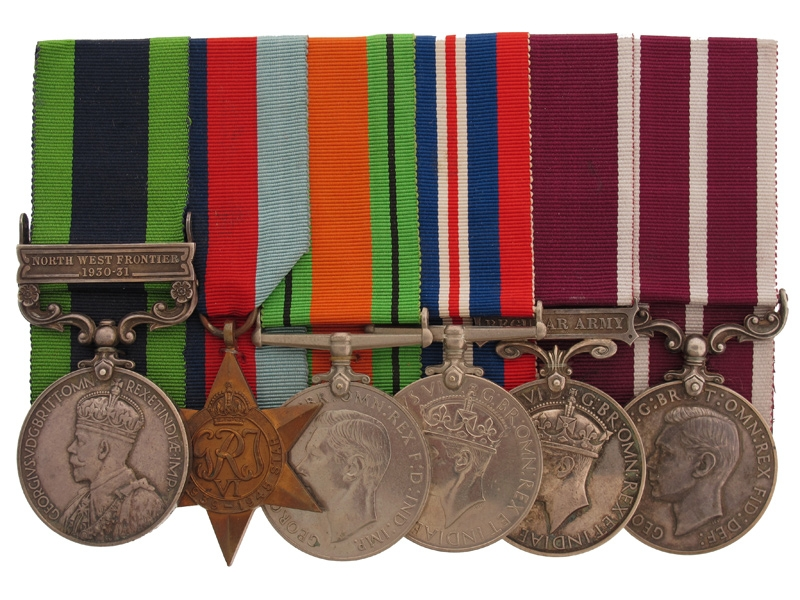 eMedals-India and Long Service R.A. Medal Group