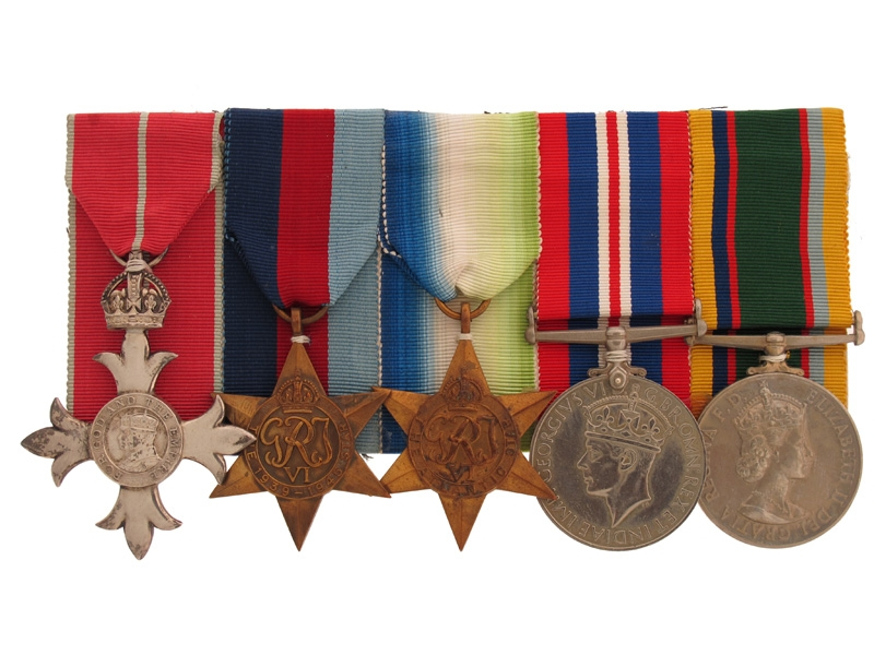 eMedals-WWII MBE Group - Lt. Commander RNR
