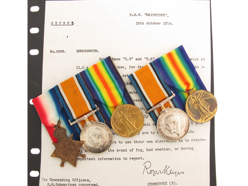 eMedals-WWI Husband and Wife Medal Groups