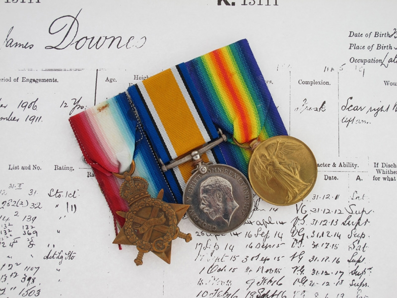 eMedals-Early WWI Royal Navy Submariner Group C-32, 1914