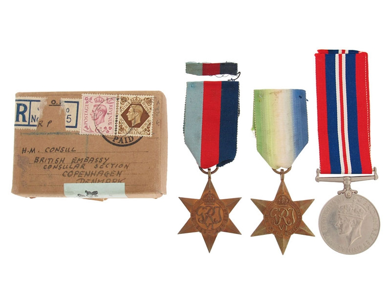 eMedals-Interesting Group of Awards to British Embassy in Denmark
