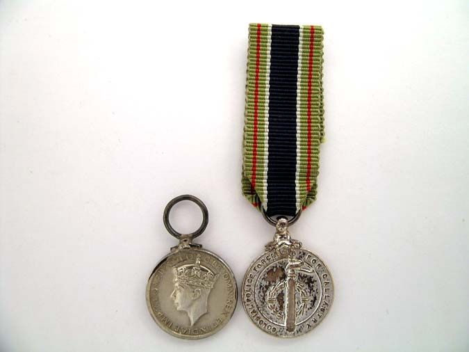 eMedals-TWO MINIATURE MEDALS