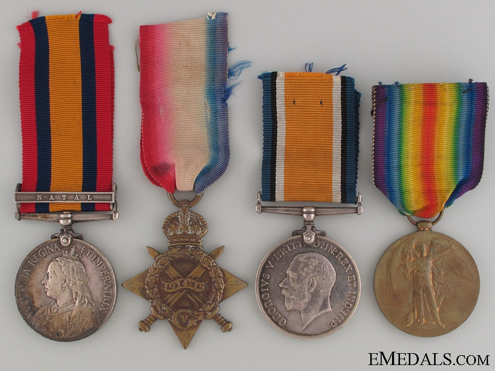 eMedals-Boer War and WWI Group to the Royal Navy
