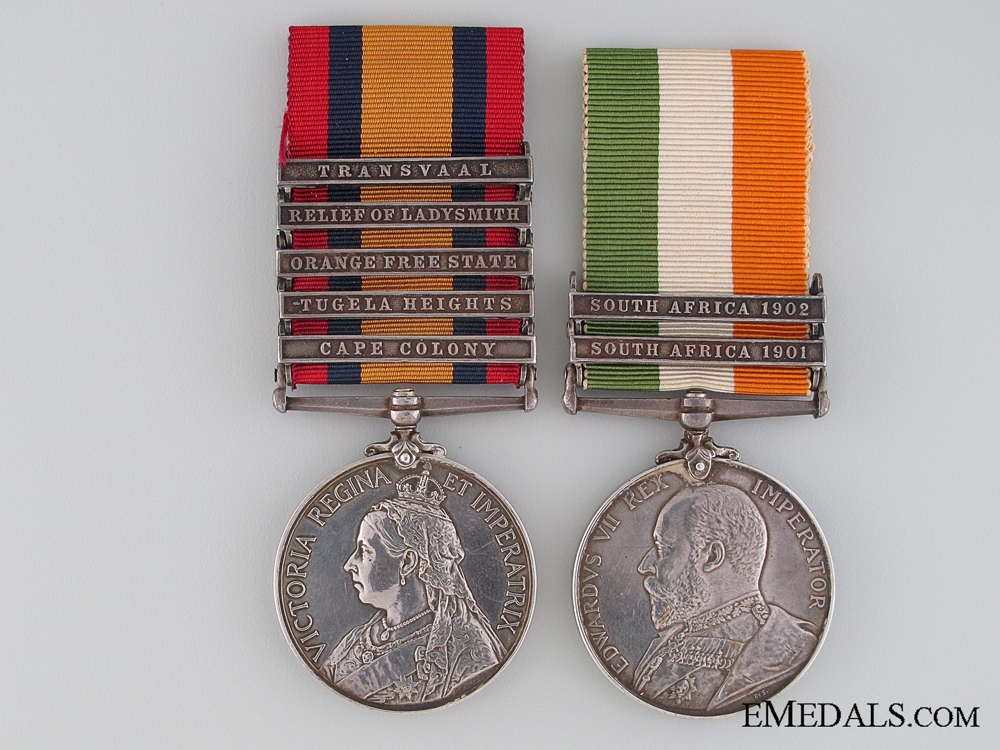 eMedals-Boer War Pair, Private G./J. Mitchell, Royal Welsh Fusiliers
