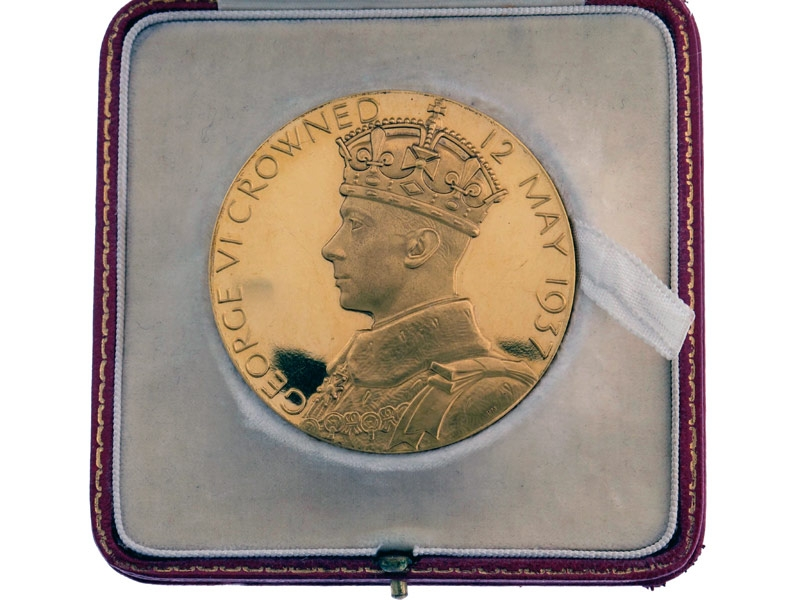 eMedals-Gold 1937 King George VI Coronation Medal
