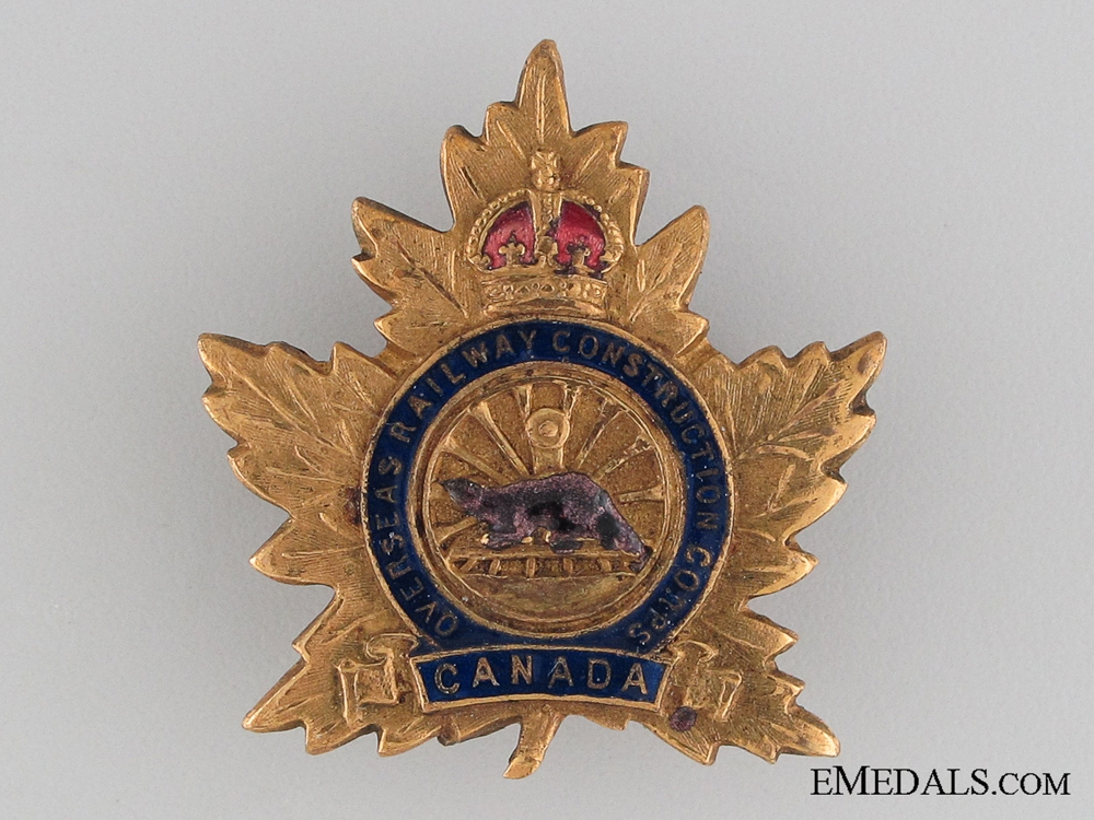 eMedals-Canadian Overseas Railway Construction Corps Pin