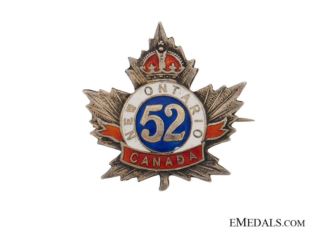 eMedals-WWI 52nd Battalion Sweet Heart Pin