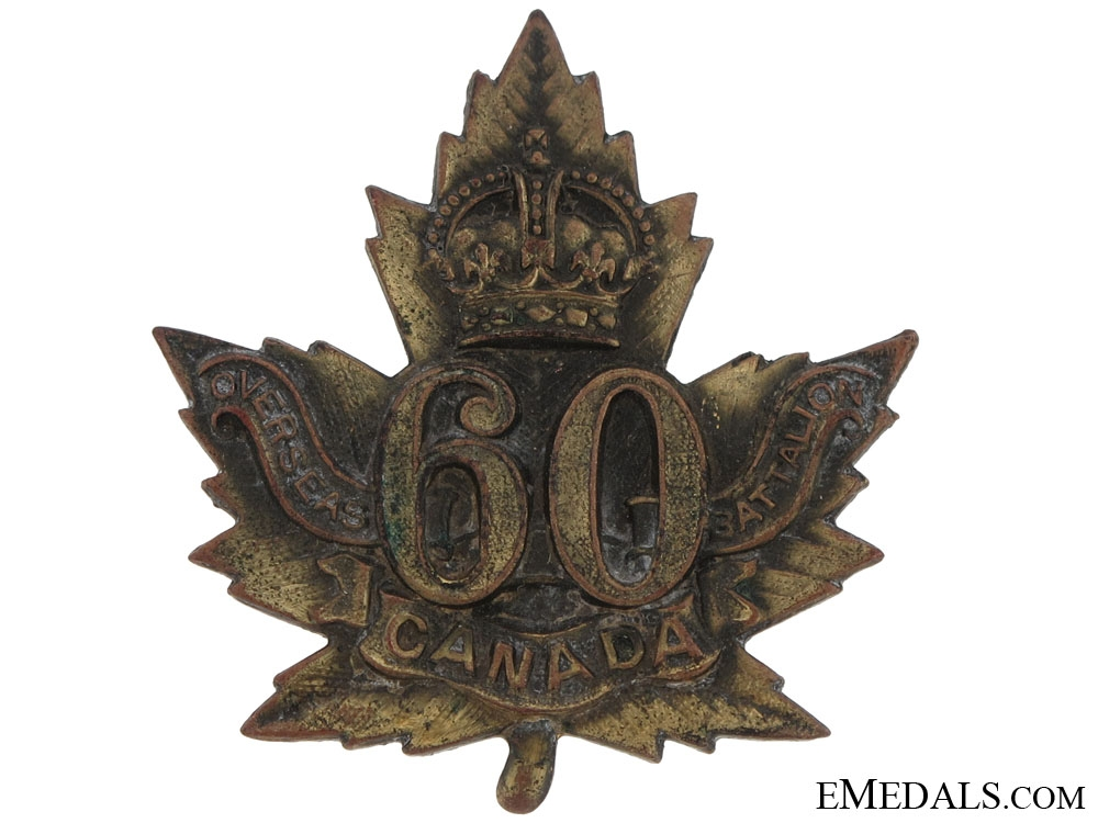 eMedals-60th Battalion (Victoria Rifles of Canada) Cap Badge