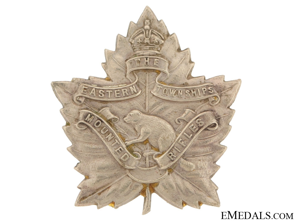 eMedals-The Eastern Townships Mounted Rifles Cap Badge