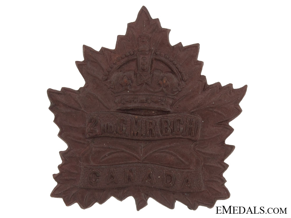 eMedals-2nd Canadian Mounted Rifles, CEF