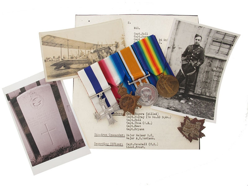 eMedals-The Awards of Canadian Cpt. G.C.Rogers MC, Royal Flying Corps