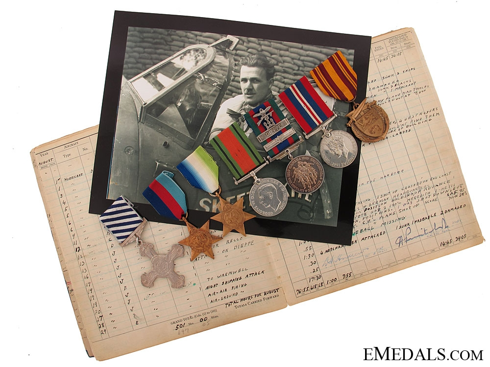 eMedals-A Superb Canadian Distinguished Flying Cross Group of Seven