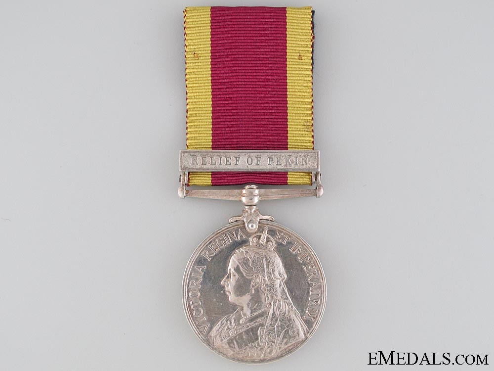 eMedals-A China Medal 1900 to Pte.Tidmas who was Wounded at Lang Fang