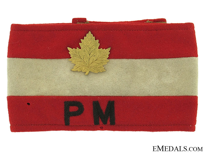 eMedals-WWII Canadian Provost Marshal Armband