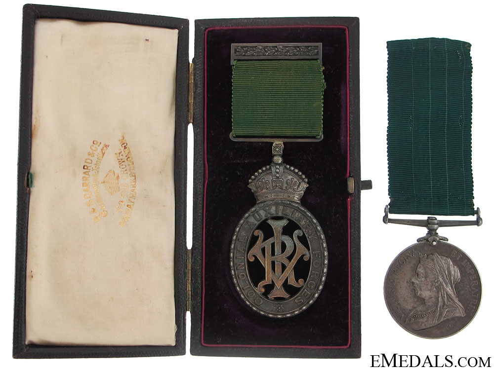 eMedals-Colonial Auxiliary Forces Long Service Pair