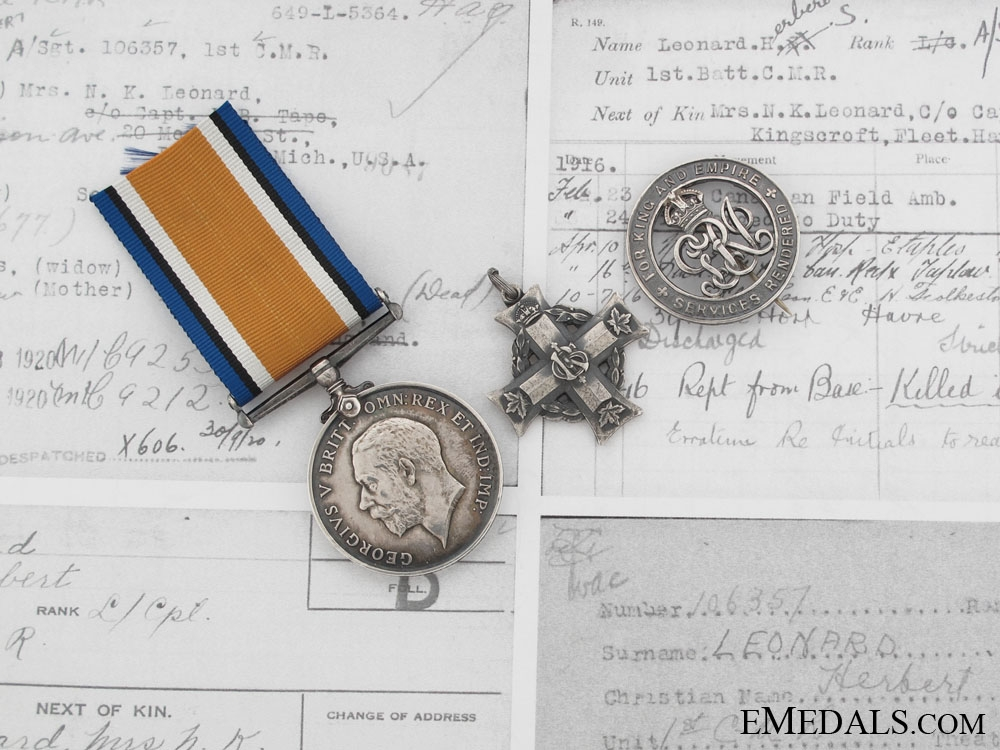 eMedals-Casualty to the 1st Canadian Mounted Rifiles