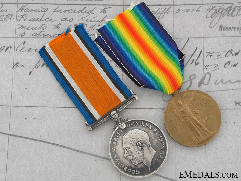 eMedals-First War Pair to Lieutenant W.H.Reid