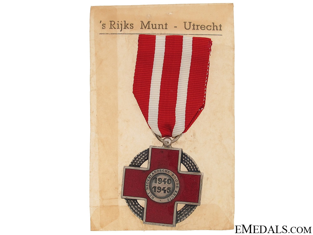 eMedals-Commemorative Cross of the Dutch Red Cross