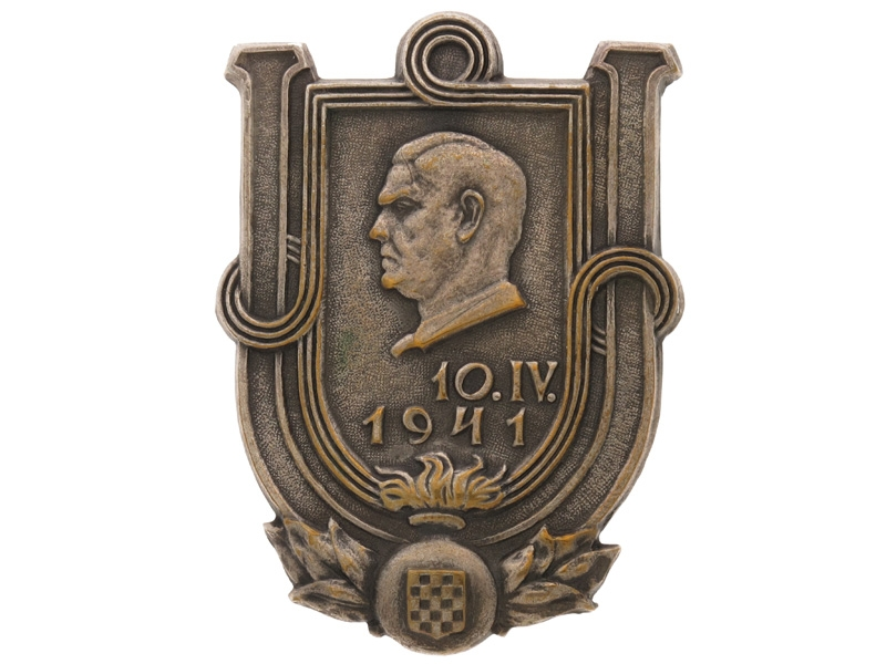 eMedals-WWII Commemorative Insignia for NDH, 1941