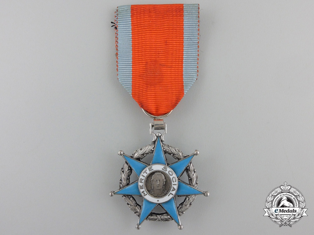eMedals-A French Order of Social Merit; Knight