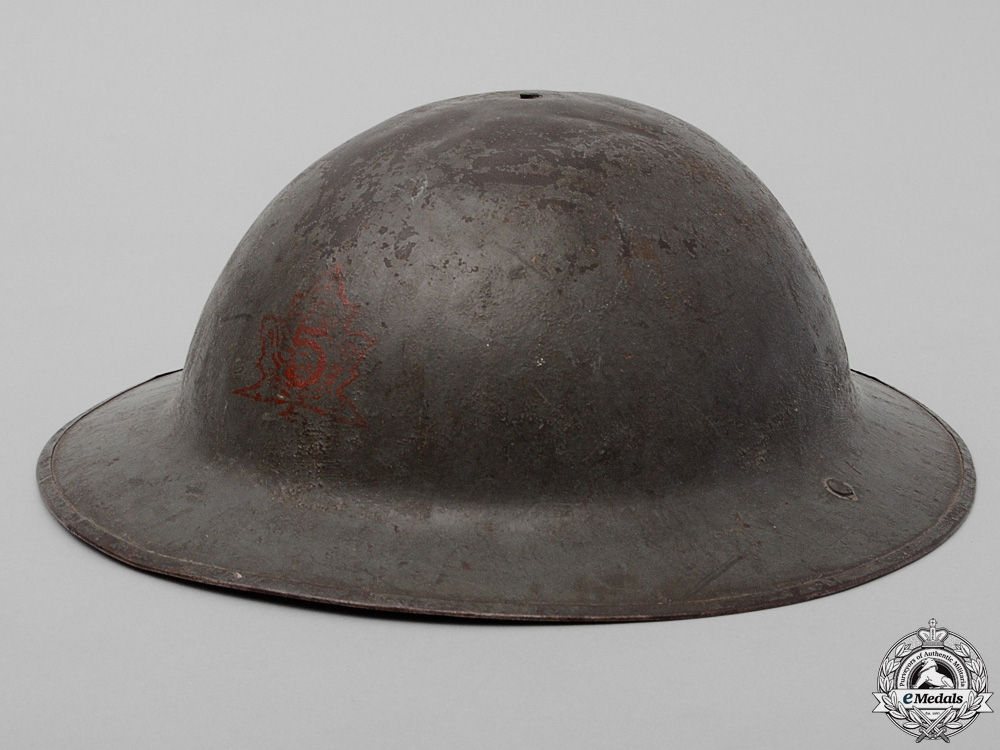 eMedals-A Mark II 5th Canadian Mounted Rifle Battalion Helmet