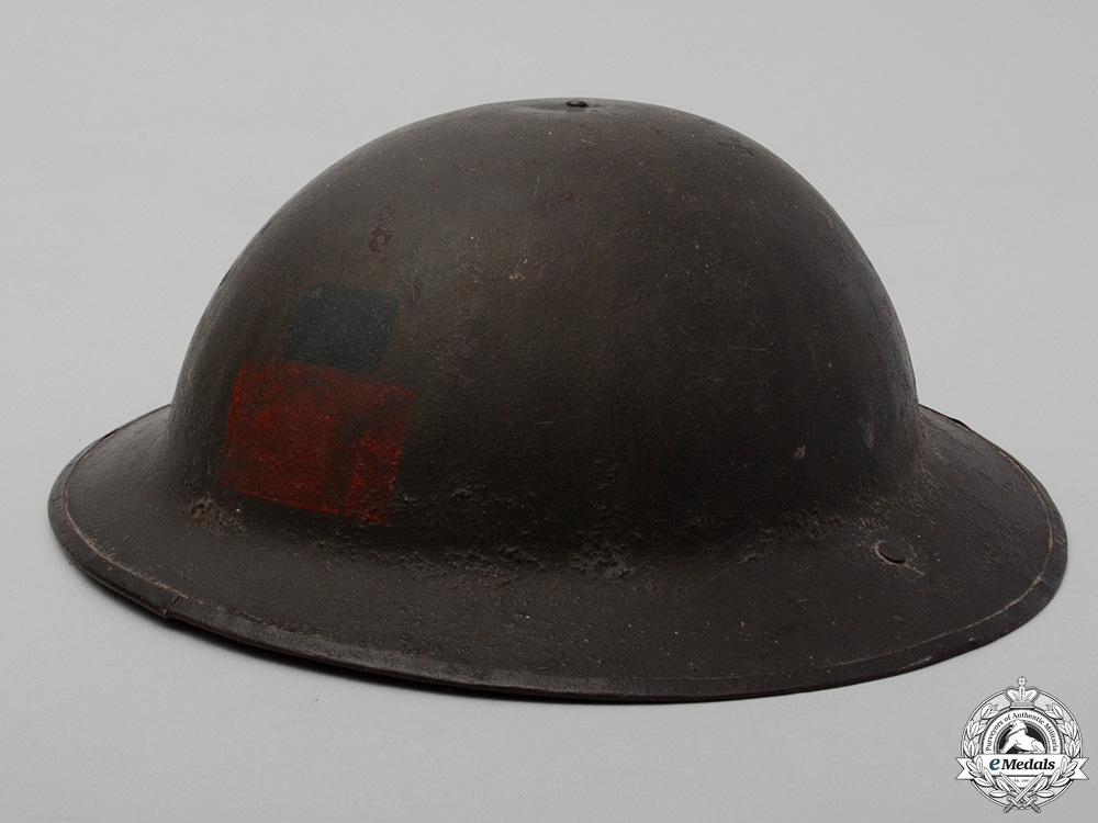 eMedals-A Mark II 4th Canadian Infantry Battalion Helmet