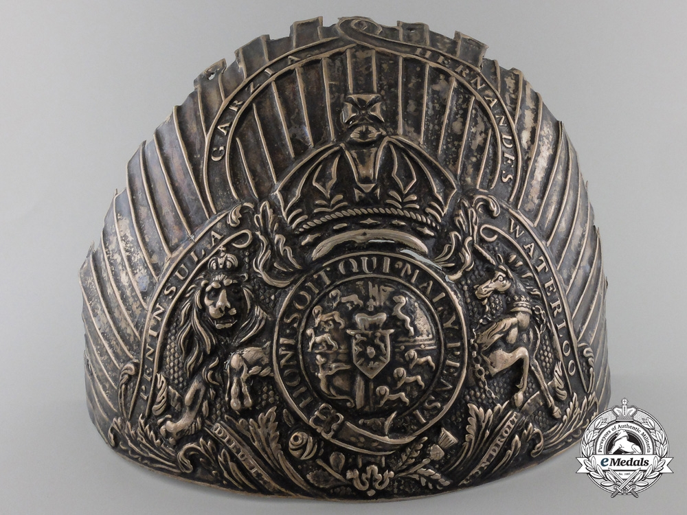 eMedals-A Most Rare1818Officer's Heavy Cavalry Helmet Plate