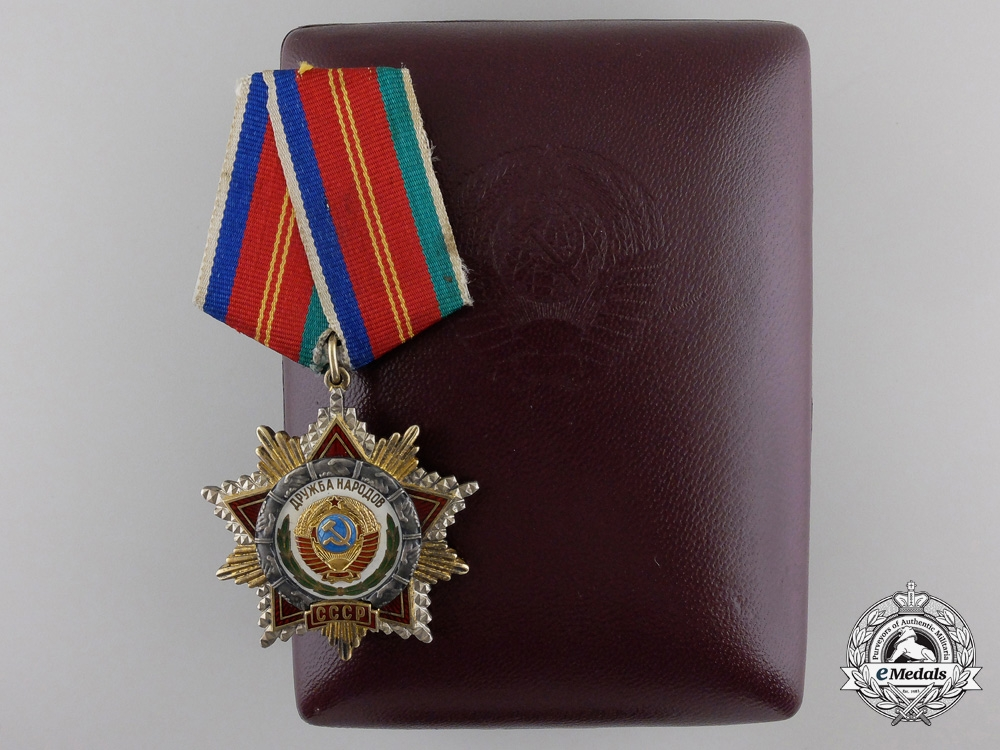 eMedals-A Soviet Order of Friendship of Peoples; Number 1444 in Original Special Presentation Case