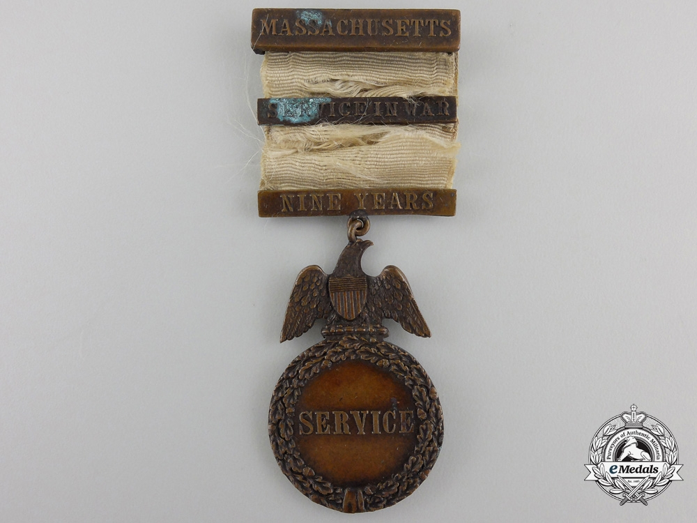 eMedals-A Massachusetts Nine Year Service Medal c.1860