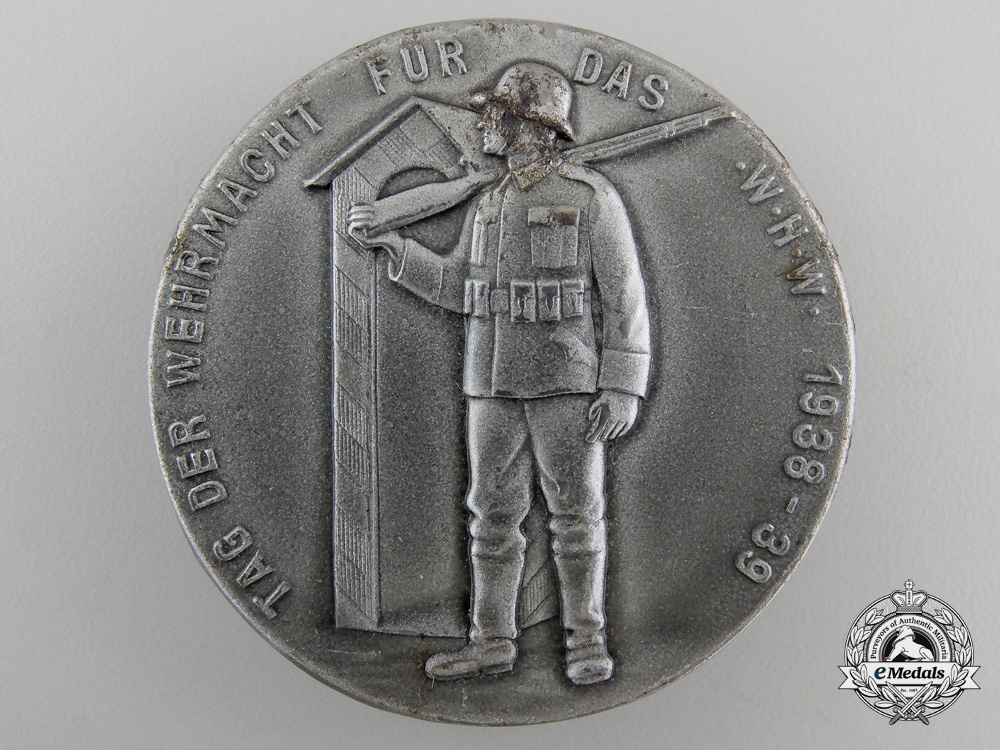 eMedals-A Large 1938-39 German Army Day Badge