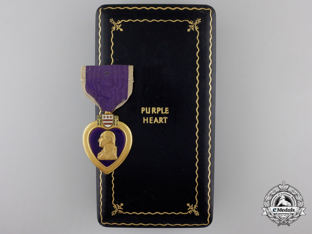 eMedals-A Second War American Purple Heart with Case