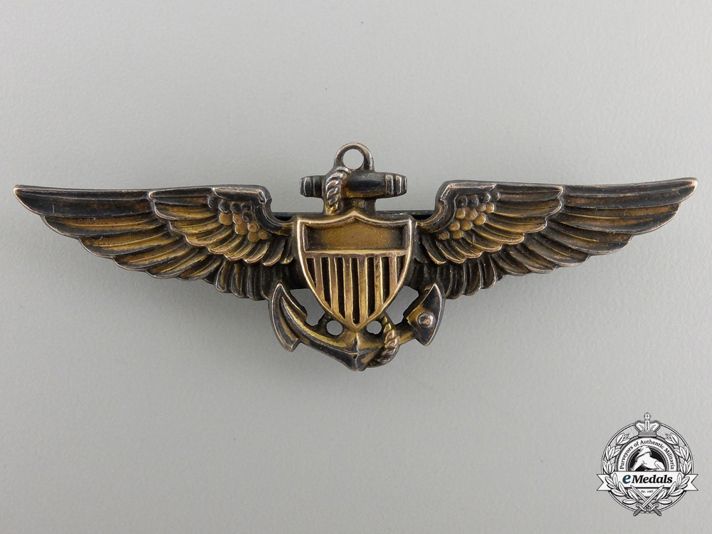 eMedals-A Second War United States Navy Pilot Wing by Amico