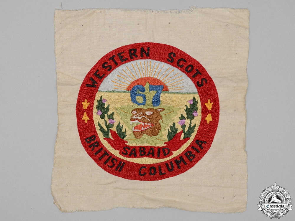 """eMedals-A First War 67th Infantry Battalion """"Western Scots"""" Tapestry"""