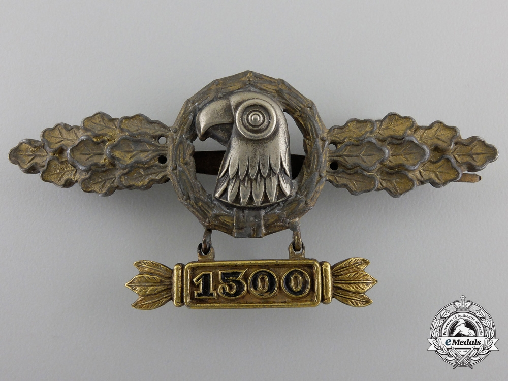 eMedals-A Reconnaissance Squadron Clasp; Gold Grade with 1500 Hanger