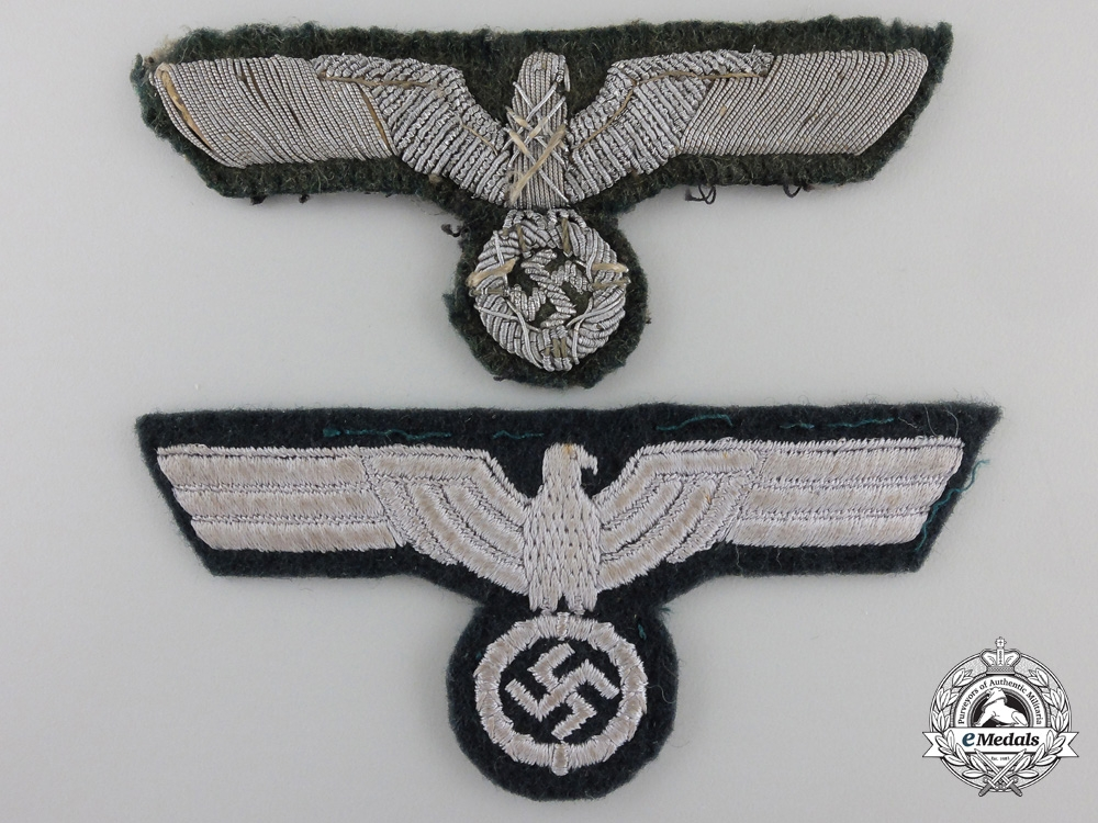 eMedals-Two Wehrmacht EM & Officers Breast Eagles