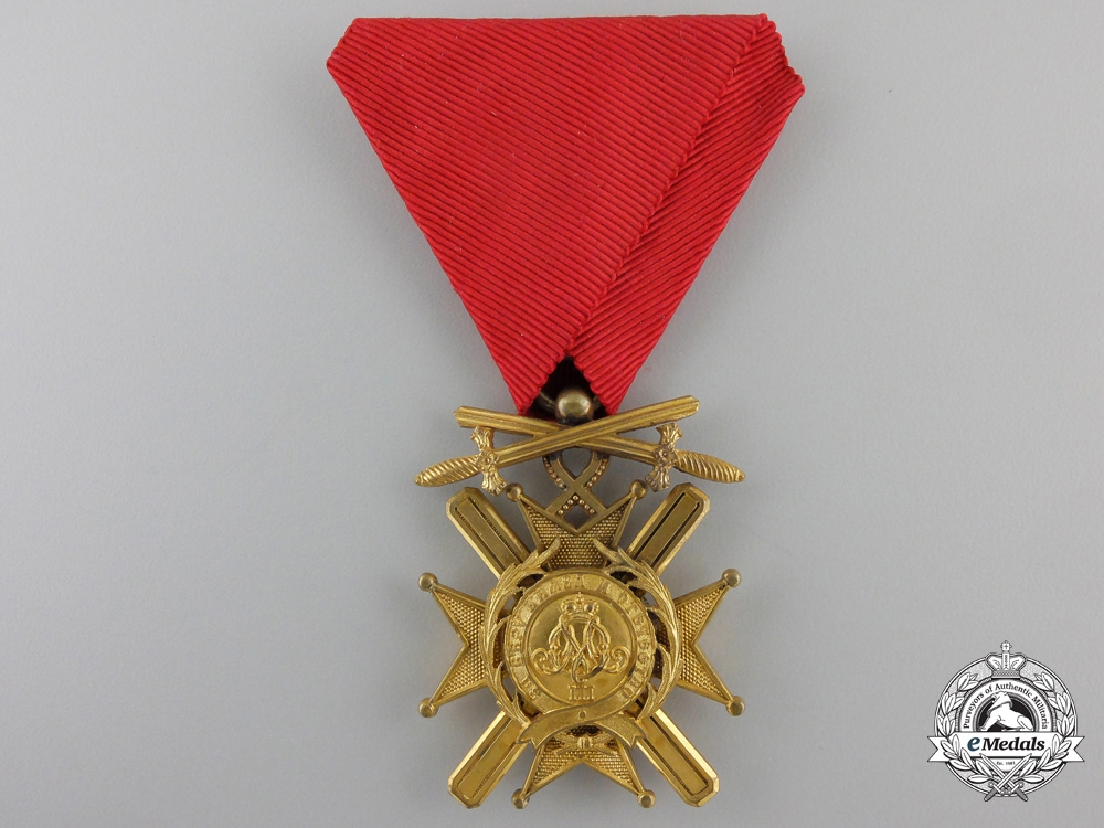 eMedals-An 1877-1903 Serbian Cross of Takovo with Swords; Fifth Class