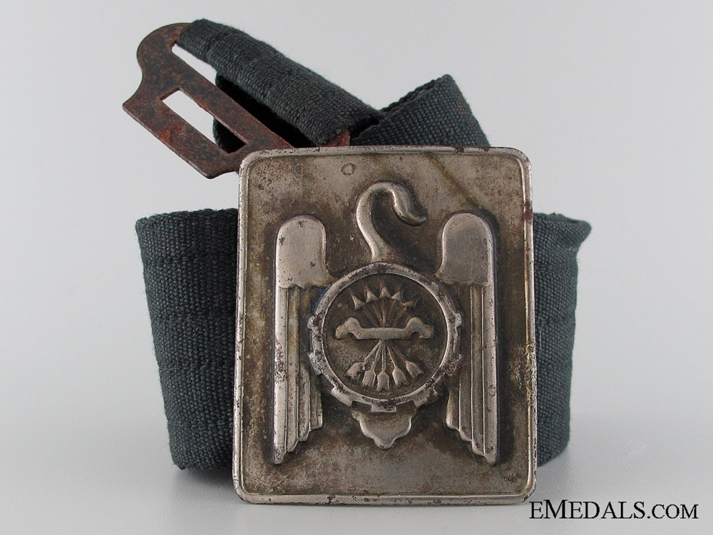 eMedals-Fascist Falangist Youth Belt with Buckle