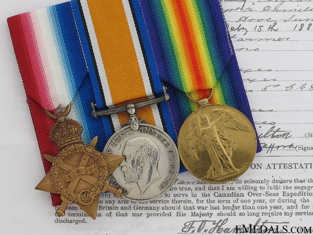 eMedals-First War Group to the PPCLI - Twice Wounded