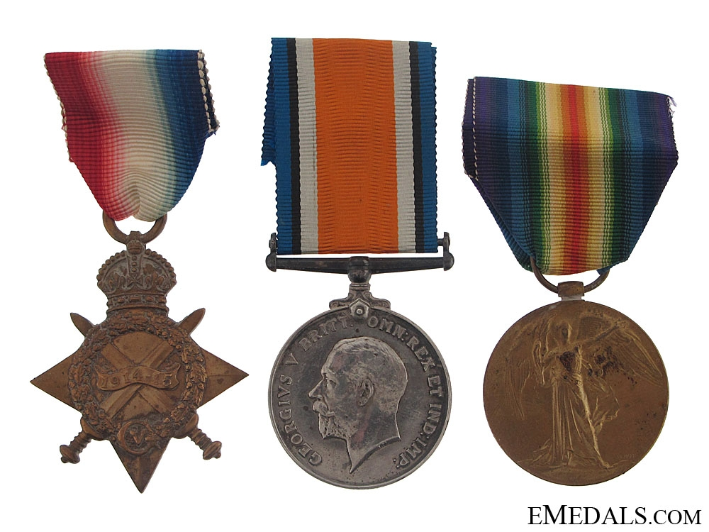 eMedals-First War Trio to the Royal Scots