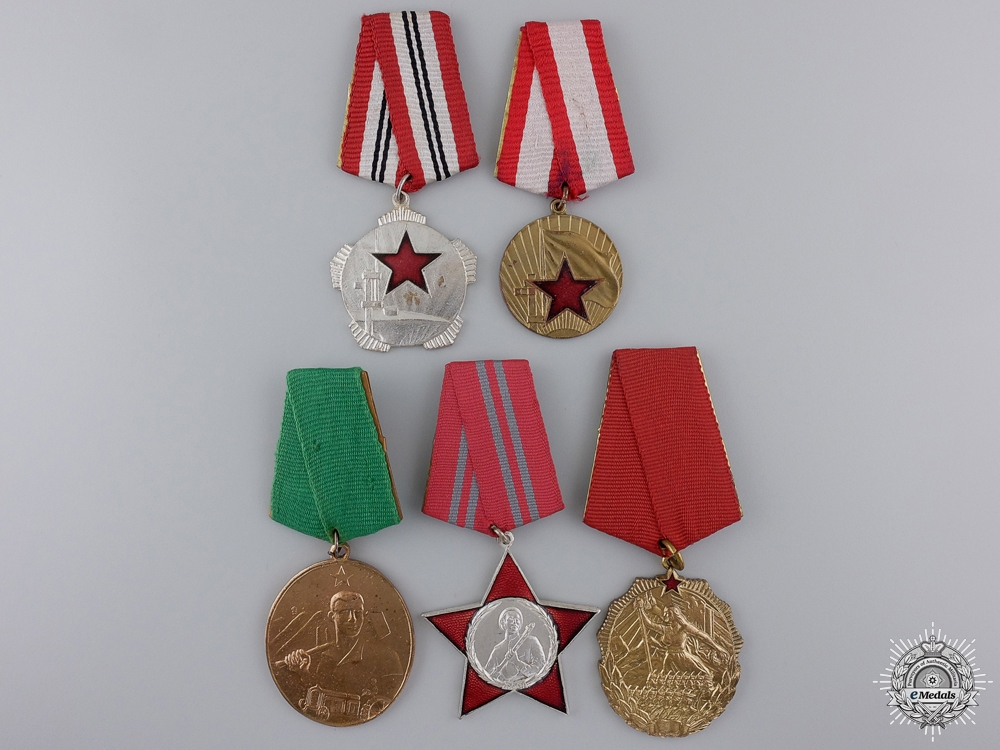 eMedals-Five Albanian Medals and Awards