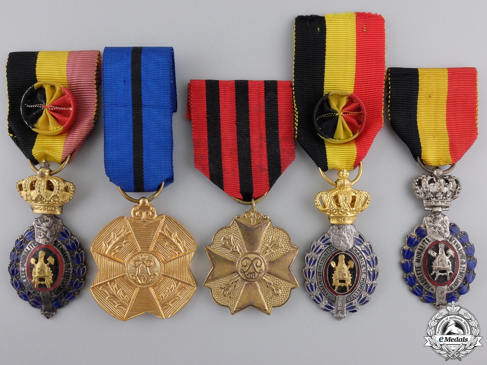 eMedals-Five Belgian Medals and Awards