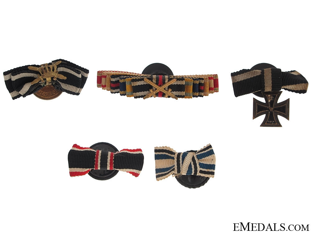 eMedals-Five Button-Hole Miniature Ribbon Bars/Awards